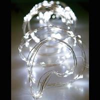 400 LED ΧΤΑΠΟΔΙ, 16 ΓΡΑΜΜΩΝ, ΑΣΗΜΙ ΧΑΛΚΟ, ΛΕΥΚΟ LED, 2,5 Μ . IP20
