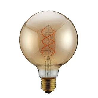 "ΛΑΜΠΑ LED G95 FILAMENT ""DECOR"" 5W E27 2000K 220-240V DIMMABLE  GOLD"