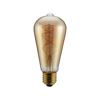 """ΛΑΜΠΑ LED ST64 FILAMENT """"DECOR"""" 5W E27 2000K 220-240V DIMMABLE  GOLD"""