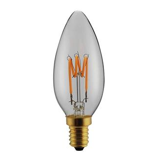 "ΛΑΜΠΑ LED C37 FILAMENT ""DECOR"" 3W E14 2200K 220-240V DIMMABLE CLEAR"