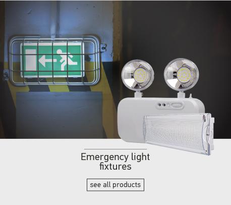 Emergency light fixtures