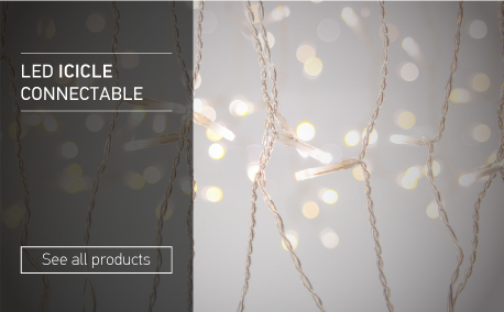 Led icicle connectable