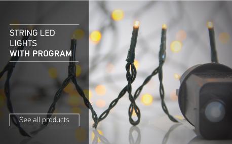 String led lights with program