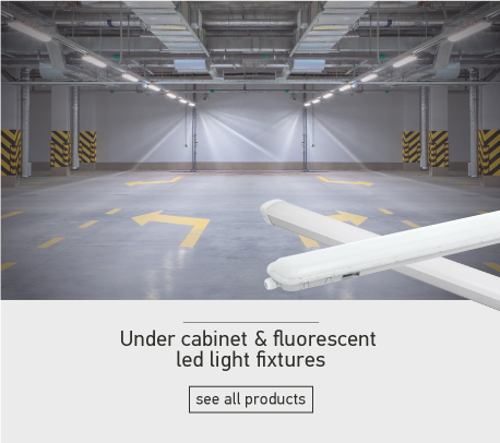 Under cabinet & fluorescent led light fixtures