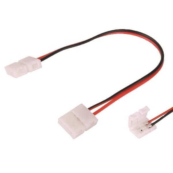 Pleasant Plug Led Connector With Wire 2 Connections 3528 4 8W 12V 24V Dc Wiring 101 Dicthateforg