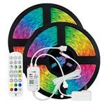ΤΑΙΝΙΑ LED KIT 2 Χ 5 ΜΕΤΡΩΝ RGB 12V + DRIVER + Wifi CONTROLLER ΜΕ ΜΟΥΣΙΚΗ IP20