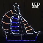 ΚΑΡΑΒΙ, LED, ΜΕ 11m. ΦΩΤ/ΝΑ, 106x104cm, IP44